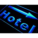 Enseigne Lumineuse m052-b Hotel Arrow Right Neon Light Sign