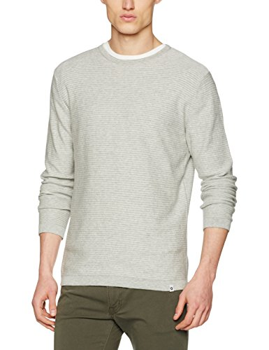 Jack & Jones Jcochristian Knit, Pull Homme Gris (Light Grey Melange)