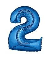 Esclusivo palloncino in mylar a forma di numero di colore blu metallizzato. Disponibile con tutti i numeri da 0 a 9. Ideale sia da appendere che come addobbo da terra, per decorare in maniera originale e chic le tue feste di compleanno, anniv...