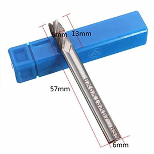 Brocas fresadora metal HSS rectas 4/6/8/10/12 mm