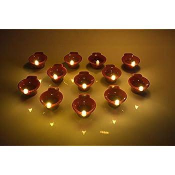 Tedtech LED E-Diya for Eco-Friendly Diwali (Set of 6)
