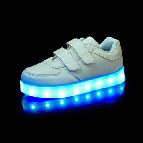 [Present:kleines Handtuch]JUNGLEST® Unisex USB Charing LED leuchten Kinder Luminous S Weiß