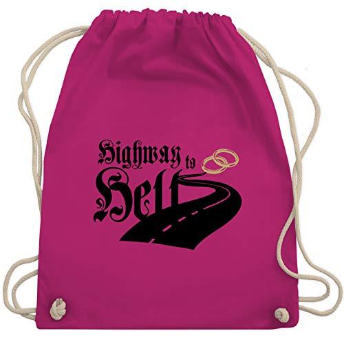 Party Crew Kostüm Rock - JGA Junggesellenabschied - Highway to Married - Unisize - Fuchsia - WM110 - Turnbeutel & Gym Bag