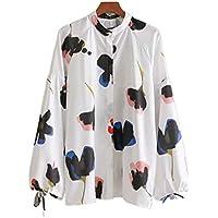 68313af8e1 Cnsdy Camisas para Mujeres Diseño de Encaje Camisas Estampadas Camisas para  Mujeres Camisas Camisetas de Manga