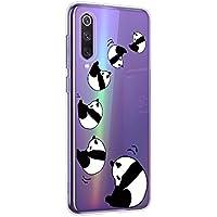 Oihxse Cristal Compatible con Xiaomi Mi 6 Funda Ultra-Delgado Silicona TPU Suave Protector Estuche Creativa Patrón Panda Protector Anti-Choque Carcasa Cover(Panda A4)