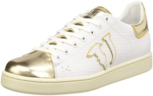 Trussardi Jeans 79S26351, Scarpe Low-Top Donna, Bianco, 39 EU