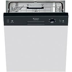 Hotpoint LSB 5B019 CB EU Semi built-in 13place settings A+ dishwasher - dishwashers (Semi built-in, Black, Buttons, 13 place settings, 49 dB, A)