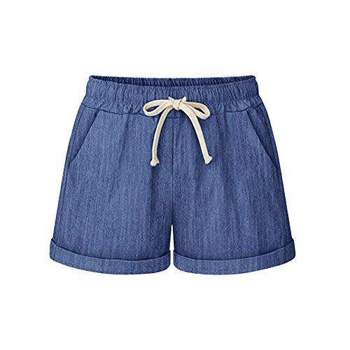 Frauen Beiläufige Reißverschluss Gummiband Heiße Kurze Hosen Dame Summer Shorts S-5XL Freizeithose Strandhosen frauen Sommerhose