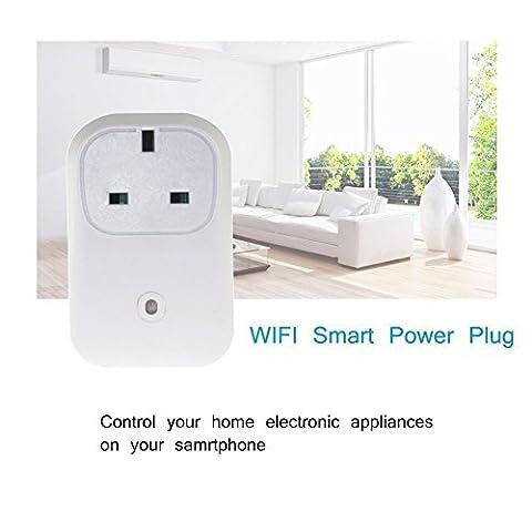 ULTRICS® Smart Steckdose, Wireless Fernbedienung WLAN Socket Wandstecker für Haushalt, Ein- / Ausschalten Elektronik von Überall, Timing Funktion, Zugriff über Android / iOS App - 3