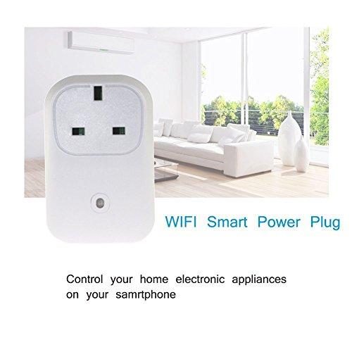 ULTRICS® Smart Steckdose, Wireless Fernbedienung WLAN Socket Wandstecker für Haushalt, Ein- / Ausschalten Elektronik von Überall, Timing Funktion, Zugriff über Android / iOS App
