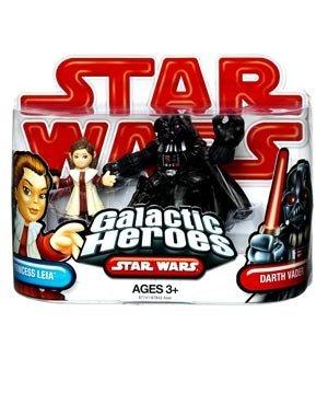 Star Wars 2009 Galactic Heroes 2-Pack Princess Leia and Darth Vader by Hasbro