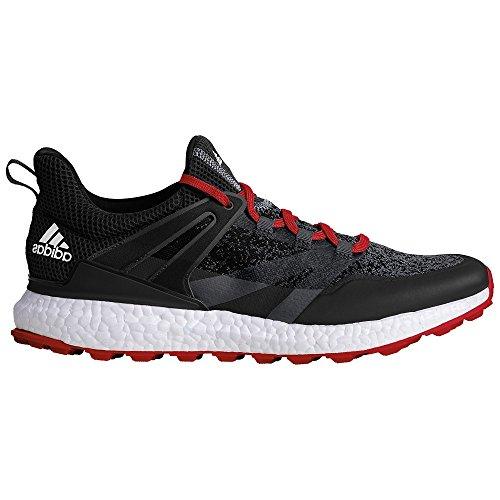 Adidas crossknit Boost Golf Schuhe, Herren, Herren, Crossknit Boost, schwarz / rot, 42.6