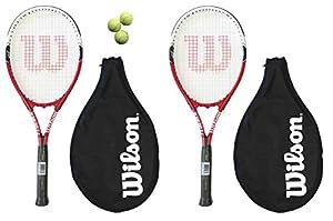 2 x Wilson Federer 110 Tennis Rackets + 3 Tennis Balls RRP £90 Review 2018