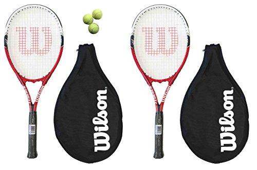 2-x-wilson-federer-110-tennis-rackets-3-tennis-balls-rrp-90