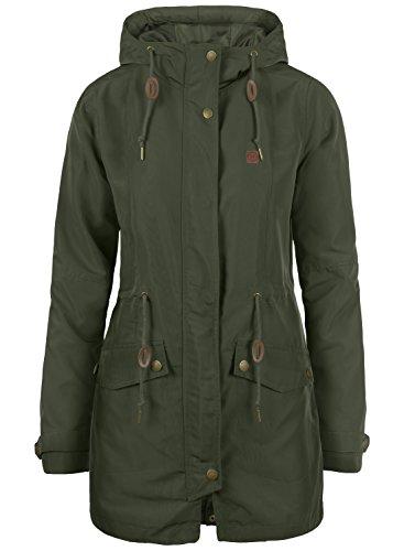 DESIRES Sakura Damen Übergangsmantel Parka Lange Jacke Mit Kapuze, Größe:XL, Farbe:Rosin (3400)