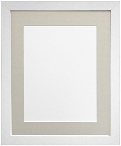 FRAMES BY POST H7 Picture Photo Frame, Wood, White with Light Grey ...