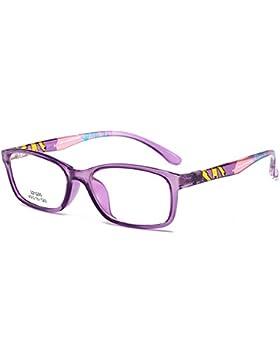 Gafas para niños - TR90 - Gafas de lentes transparentes marco Geek / Nerd gafas con forma de coche gafas caso...