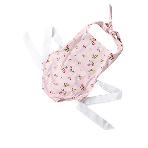 Bekleidung Longra Baby Sommer Strampler Neugeborenes Baby Mädchen Print Blume Ohne Arm Strampler Overall Bodysuit Baby Sommerkleidung (0 -24 Monate) (65M 6Monate, Pink)