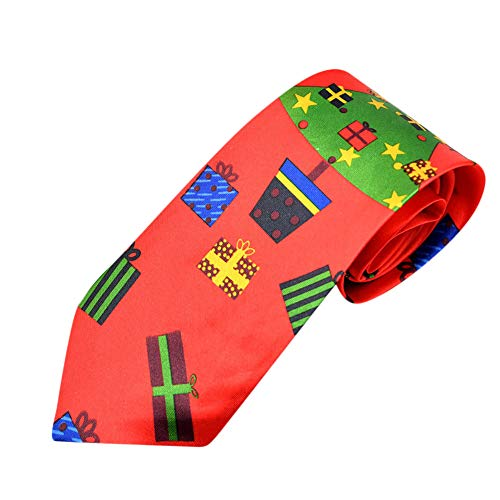 Syeytx Weihnachtskreativer Entwurf Sankt Baum Ren Druck Blumenbindungs Weihnachtsmode Festival Krawatte