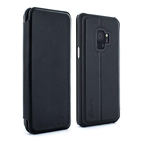 bfcc51067df Proporta ufficiale Samsung Galaxy S9 custodia protettiva in pelle vera  Folio - Carbon Opus
