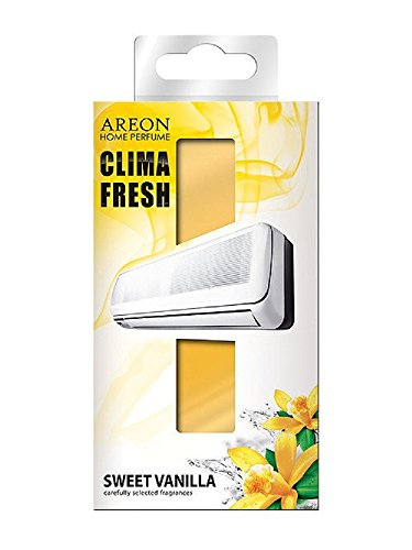 areon Clima Fresh Désodorisant Diffuseur douce vanille maison air conditioner original Parfum odeur jaune maison Salon Chambre Bureau Magasin Durable moderne (Sweet Vanilla Pack de 1)