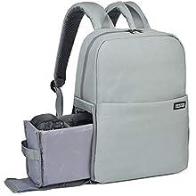 Kamerarucksack, CADeN wasserdichte Kameratasche Dual Use DSLR Bag Diebstahl Fotorucksack für Spiegelreflexkamera Canon Nikon Sony(Hellgrau)