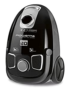 Rowenta RO5285EA Compacteo Ergo Traino con Sacco, Animal Care, Nero