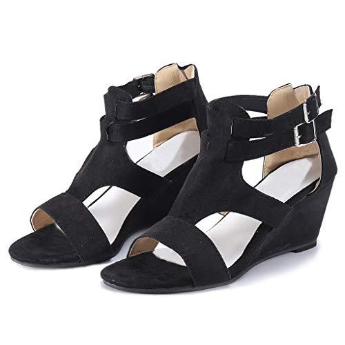 dc9d6b944ba2 Fuibo Sandals Confortevoli Estate Donne Beach Shoes Fashion Women Summer  Wedges Retro Casual Strap Gladiator Roman