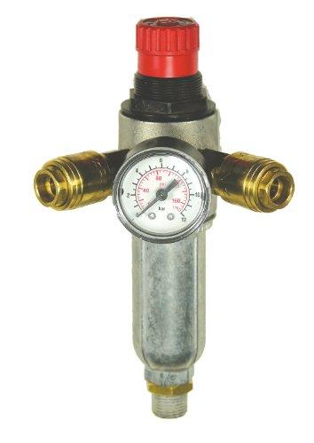 Mecafer 152172 Filter, Druckminderer mit 2 Ventilen, 1/4 Zoll) Stecker