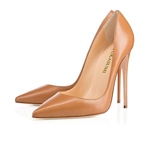 MT d眉nne klassische SUKaite Mud Stiletto Faschion 120mm Schuhe Spitzschuh EDEFS Damenschuhe Pumps Partei qa7gaT1w