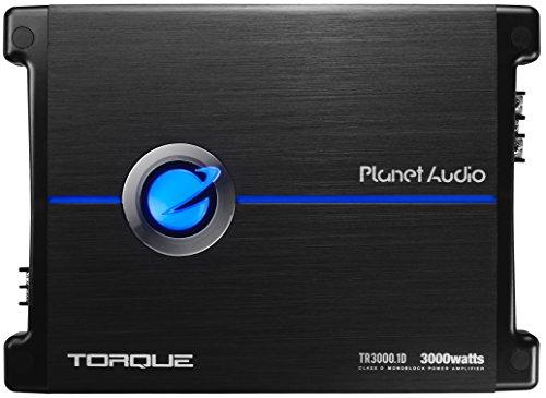 Planet Audio TR3000.1D Drehmoment 3000 Watt, 1 Ohm stabil Class D Mono Auto-Verstärker mit Fernsteuerung Subwoofer