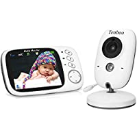 """Vigilabebés con cámara Video Vigilancia 3.2"""" TFT LCD digital dual función de audio, Wireless Baby Monitor, sensor de temperatura, NANAS, monitor de sueño, visión nocturna"""