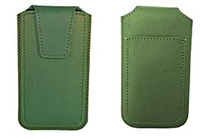 TOTTA PU Leather Pull Up Pouch For Nokia Lumia 820 GREEN