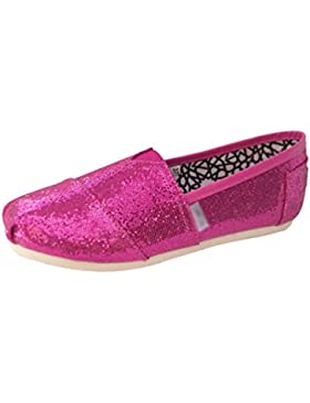 Dooxii Unisex Niños Chicos Chicas Ocasionales Antideslizante Loafer Zapatos Moda Lentejuelas Planos Alpargatas