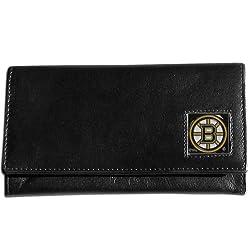 NHL Boston Bruins Genuine Leather Women's Wallet