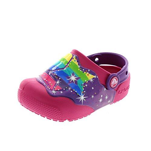 Crocs Funlablightclgk, Zoccoli Unisex – Bambini Mehrfarbig (Multi Stars)