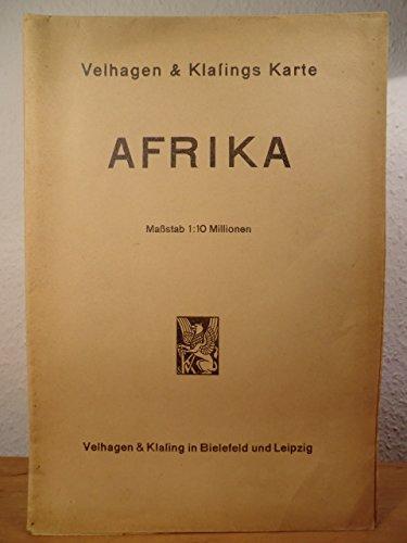 Velhagen & Klasings Karte Afrika. Maßstab 1 : 10 Millionen