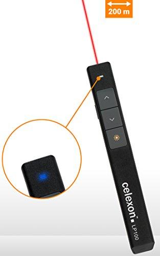 celexon Laser-Presenter Economy LP100, kabelloser Presenter, integrierter Laser-Pointer, hohe Reichweite - 4