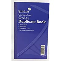 Silvine Duplicate Book Carbonless Order 1-100 210x127mm Ref 710 [Pack of 5]