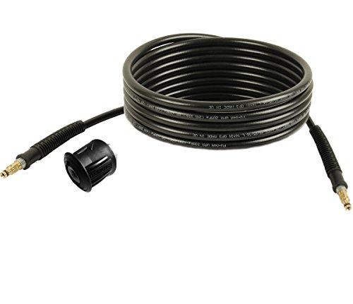 Hochdruckschlauch | 5m, 200bar, 60°C, Quick Connect beidseitig, NW 6x1 | inkl. Adapter von M22 auf Quick Connect-System