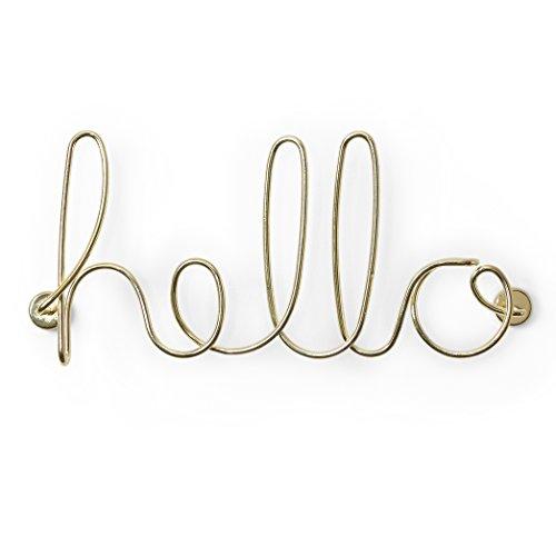 Umbra Hello. Fil de métal doré Hello. A Visser au Mur pour...