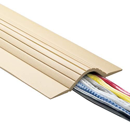 UT Draht utw-cable Decke Low Profile Kordel Cover und Displayschutzfolie, beige, UTW-CPL5-BG