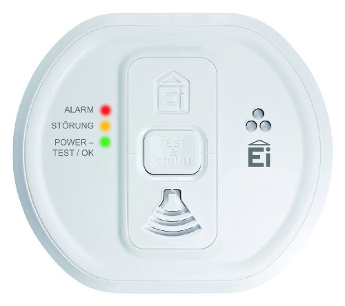 Ei Electronics Contemporary Designed Carbon Monoxide Alarm with Memory Feature Powered