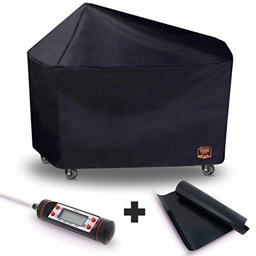 Yukon Glory 8268Premium Grill Cover für Weber Performer Premium und Deluxe Holzkohlegrills, 22(vergleichen zu Weber 7152) gratis Bonus Fleisch & Geflügel Thermometer + BBQ Grillen matt