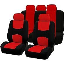 SODIAL 9pzs Cubiertas de asiento de automoviles Cubierta de asiento de coche completo universal apto Protector