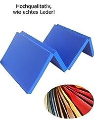 Niro-Sport GmbH - Colchoneta deportiva (plegable en 4 partes, 1800 x 610 x 45 mm, 2,1 kg, piel sintética), color azul