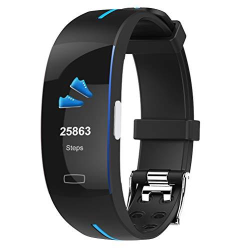 wentao salute e fitness tracker, smart bluetoothh impermeabile mano orologio sollevare luce fino sport ppg + ecg attività orologio per android/ios bambini regalo,black+blue+blue
