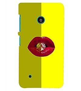 PRINTSHOPPII LIPS WITH DIMOND Back Case Cover for Nokia Lumia 530::Microsoft Lumia 530