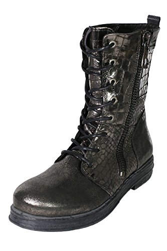 Replay Sadda Boots Stiefel Stiefelette Damen Leder, Farbe:silber;Schuhgrößen:41