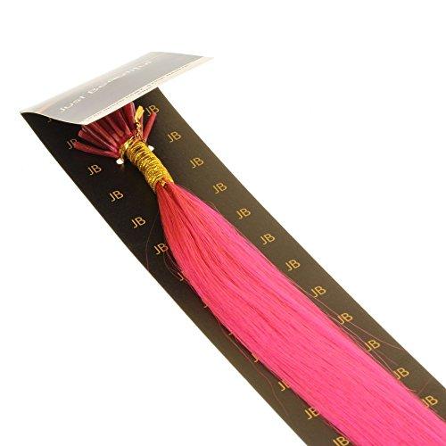 Just Beautiful Hair 30cm Micro Anello I-Stick Extensions Capelli Veri Remy Indiani, 0.5g - #rosa, 1x25 ciocche